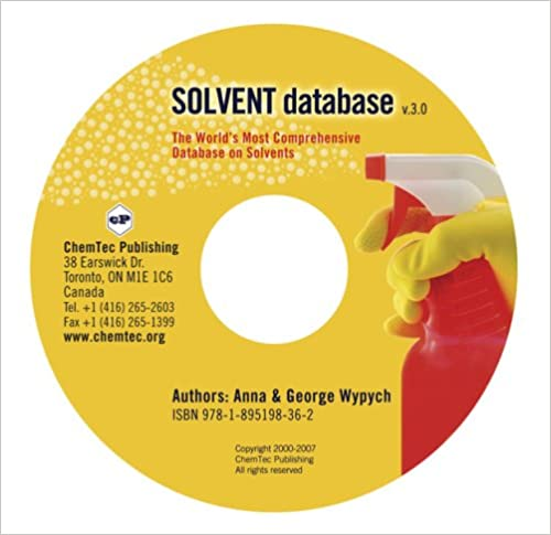 Solvent Database 3rd Edition by Anna Wypych , George Wypych  PDF Download
