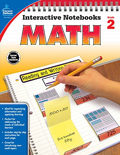 Carson Dellosa Math Interactive Notebook, Grade 2 (Interactive Notebooks)