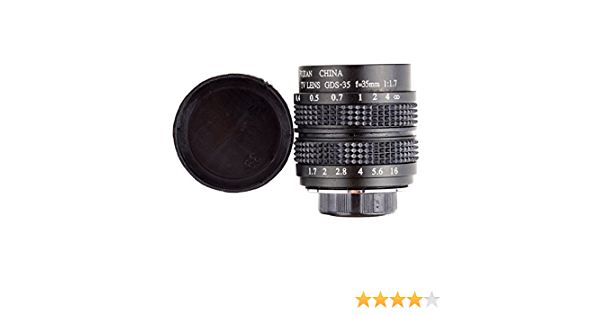 Fujian 35mm F 1 7 Cctv Cine Lens For M4 3 Mft Mount Camera Adapter Bundle Black Micro 4 3 M4 3 Gf3 Gf5 E Pl3 E P3 E Pm1 Amazon Ca Camera Photo