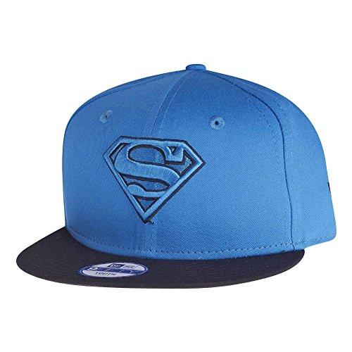 ホイットニーシャンパン砲兵ニューエラ (New Era) 9フィフティ スナップバック 子どもたち キャップ - スーパーマン (Superman) ブルー Youth (53-55cm)