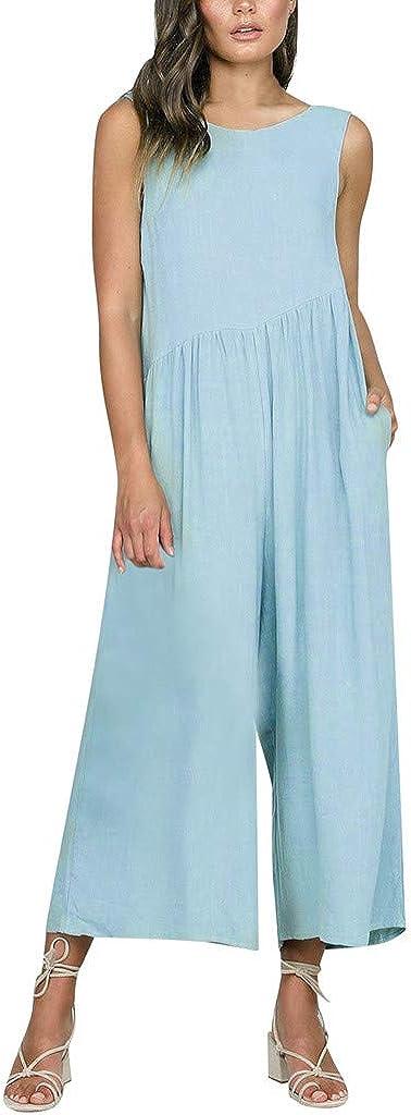 pipigo Womens Beach Spaghetti Strap Summer Bohemian Floral Print Jumpsuit Romper Grey L