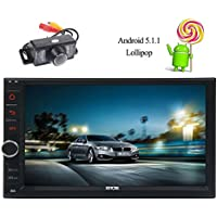 Double Din EinCar Car Stereo 16GB ROM Android 5.1.1 Lollipop GPS Multimedia System In Dash 6.2 Inch Quad Core Car Radio with Navigation Support Bluetooth Wifi 1080P+Backup Camera