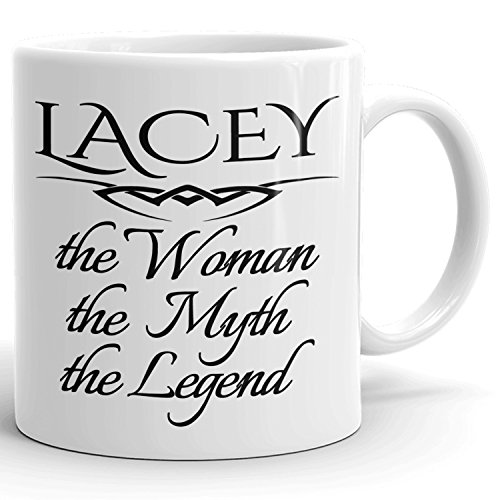 Best Personalized Womens Gift! The Woman the Myth the Legend - Coffee Mug Cup for Mom Girlfriend Wife Grandma Sister in the Morning or the Office - L Set 1