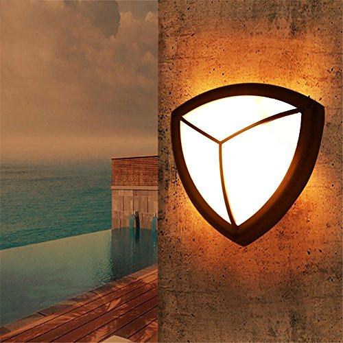 (LED Wall Lights Wall Sconce Light Fixture Up Down Wall LightingLed Wall lamp in a Corner of The Ellipse Shield Stack Road in The Terrace Light Waterproof Outdoor furnished Patio Outdoor Wall lamp)