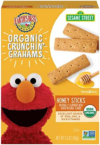 Baby & Toddler Snacks: Earth's Best Crunchin' Grahams