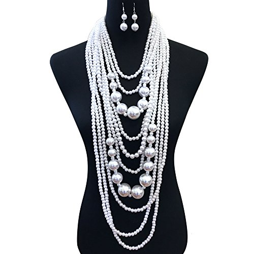 Buy sexy bridal pearl necklace set
