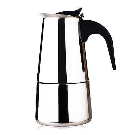 Amazon.com: Fad-J - Cafetera de acero inoxidable para café ...