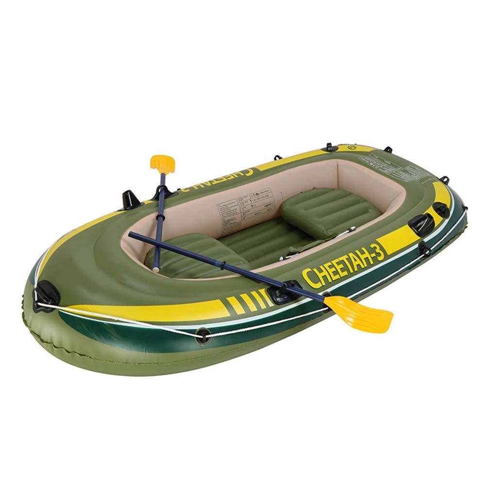 カヤックインフレータブルボート厚い耐摩耗漁船高速旅行カヌー、3人   B07R8TNPY1