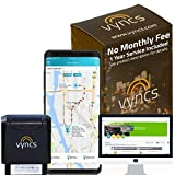 GPS Tracker VyncsPro No Monthly Fee 3G OBD Car Tracker Real Time GPS 1 Year Data Plan Included 60 Seconds GPS, Live Map, Teen Unsafe Driving Alert, Car Health, Recall, Fuel Report (Grey)