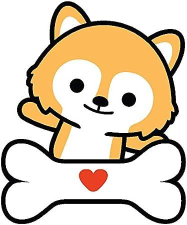 Amazon Com Divine Designs Cute Baby Fox Shiba Inu Puppy Dog Cartoon Emoji Vinyl Decal Sticker 4 Tall 3 Automotive