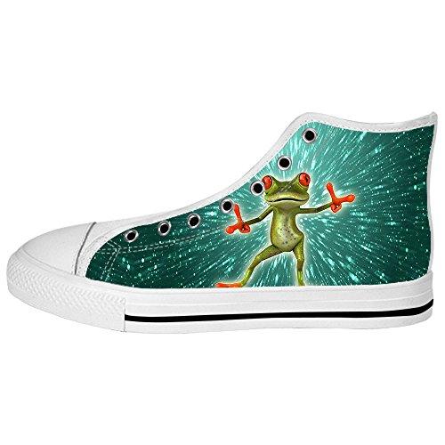 Shoes Canvas I Ginnastica Custom Lacci Rana Da Scarpe Alto Delle Tetto Women's Divertente qwtIrXIO