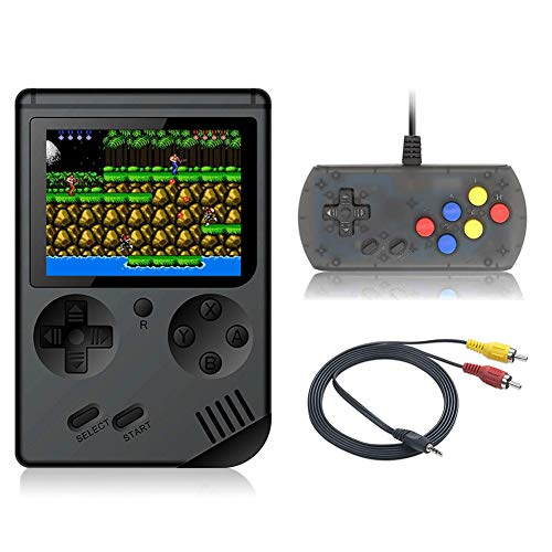 FAITHPRO Handheld Game Console with Built in 168 Games, 2 Player 3 Inch Screen USB Charger Supports TV Output Retro FC Video Game Console, Good Gifts for Kids and Adults