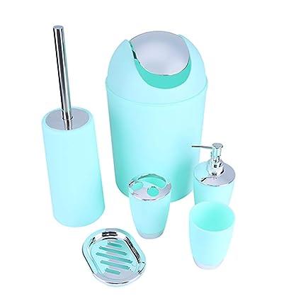 KYKDY 6 EN 1 baño Titular de Cepillo de Dientes desinfectante de Manos Botella Sopa Titular