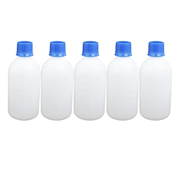 sourcing map 5 piezas Botella de plástico de 500 ml de boca ancha sellado líquido de
