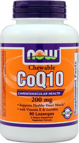 (NOW Foods CoQ10 Chewable - 200 mg - 90 Lozenges -)