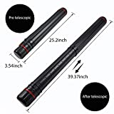 Drawing Tube Blueprint Case DEWEL Telescoping Art Tube Large Plastic Black Storage Tube Expands From 24 To 40 Inches Plastic Waterproof And Light Resistant Poster Tube With Strap