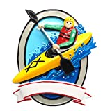 Grantwood Technology PERSONALIZED CHRISTMAS ORNAMENT HOBBIES/ACTIVITIES- KAYAK