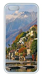 ICORER Good Case for iPhone 5S Nice Ascona Case Cover for Apple iPhone 5 5S TPU White