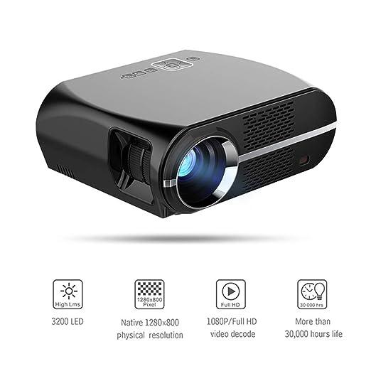 QLPP Proyector de vídeo 3500Lux, Cine en casa Full HD con 260 ...
