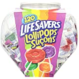 Life Savers 120-Count Lollipops Jar, 1.2kg