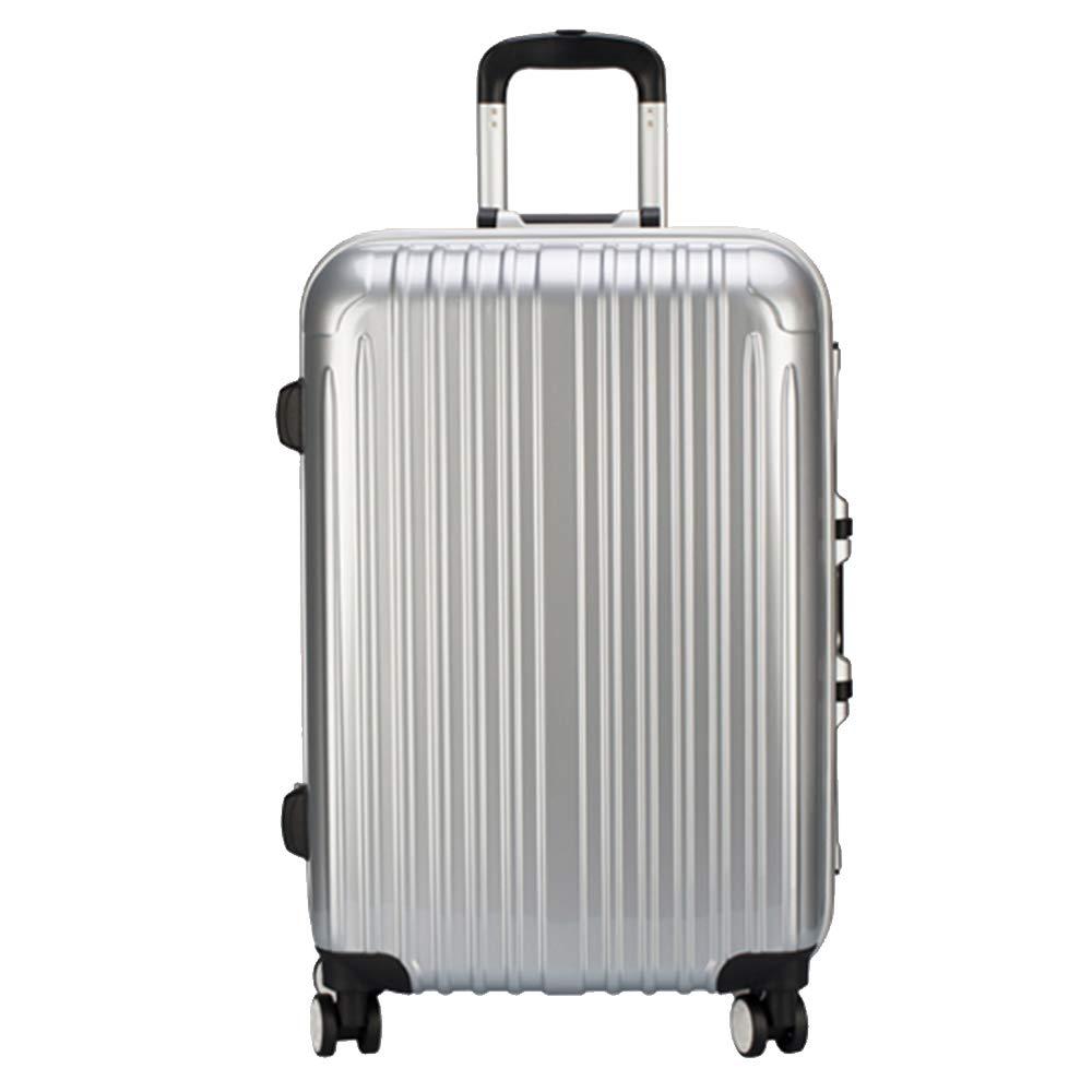 YD スーツケース トロリーケース24/26インチアルミフレーム航空機ホイールトロリーケース学生荷物無地パスワードスーツケース出張チェックボックス4色オプション /& (色 : 黒, サイズ さいず : 50*29*72.5cm) 50*29*72.5cm 黒 B07MW1X1P8