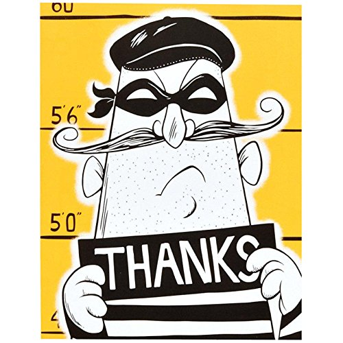 BirthdayExpress Police Party Cops and Robbers Party Thank-You Notes (8) ()