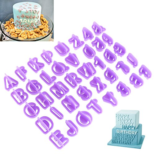 OUNONA 40Pcs Alphabet Cookie Cutters Biscuit Cutter DIY Tool