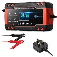 DEYINVI Automotive Car Battery Charger,12V 8A 24V 4A Car Battery Charger/Maintainer for Car,Motorcycle,Truck,Lawn Mower…