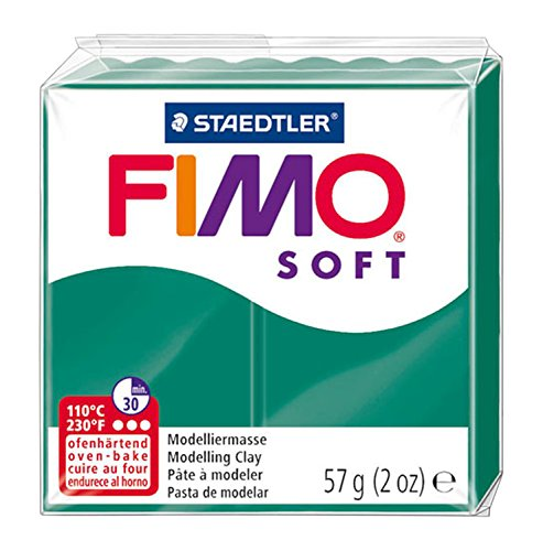 56g Block (FIMO Soft Modelling Clay 56g Block Emerald)