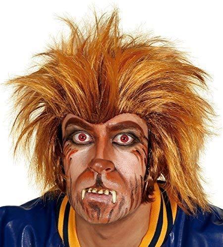 Adult Mens Crazy Werewolf Halloween Wolf Orange Brown