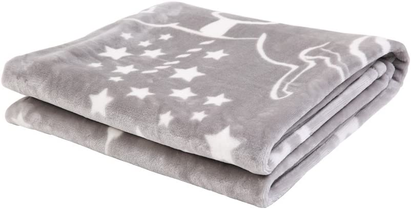 Super Soft Baby Blanket Cot Throw Two Designs Large 110x140cm Gift Boxed Quality