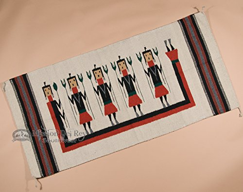 Mission Style Wall Hanging - Mission Del Rey Zapotec Style Rug Wall Hanging 32