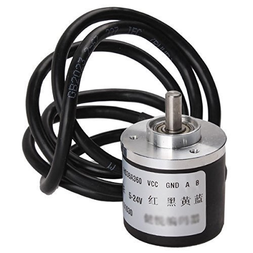 Qauick 400p/r Incremental Rotary Encoder Dc5-24v Wide Voltage Power Supply 6mm Shaft