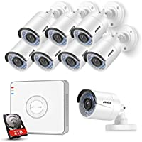 ANNKE 8 Channel POE Security Camera System 1080P HD Simplified PoE NVR with 2TB Hard Drive and (8) 1.3MP 960P Outdoor Indoor Metal IP Cameras,100ft Night Vision, Remote View & Smart Recording