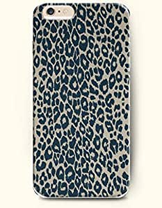 Blue And Beige Leopard Grain - Animal Print - Phone Cover for Apple iPhone 6 Plus ( 5.5 inches ) - SevenArc Authentic...