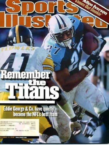 2000 Sports Illustrated Magazine - Sports Illustrated November 13 2000 Eddie George/Tennessee Titans Cover, Allen Iverson/Philadelphia 76ers, David Tua vs Lennox Lewis/Boxing, Ken Simonton/Oregon State