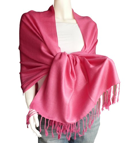 New Best Soft PashminaShawlScarfWrapStole (hotpink)