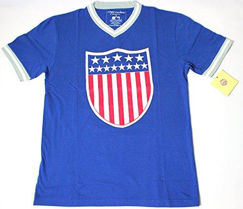 Brooklyn Dodgers Men's Eephus T-Shirt by Wright & Ditson - Blue (Small) (Bat Brooklyn Dodgers)