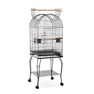 iKayaa Large Bird Parrot Cage Macaw Cockatoo Lockable Stainless Steel Birdcages