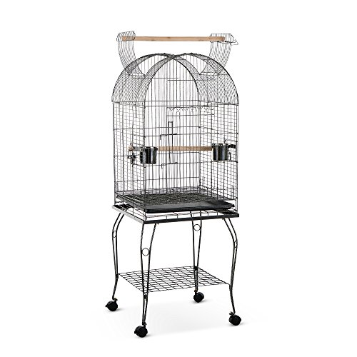 51fpNmVBT1L - iKayaa Large Bird Parrot Cage Macaw Cockatoo Lockable Stainless Steel Birdcages