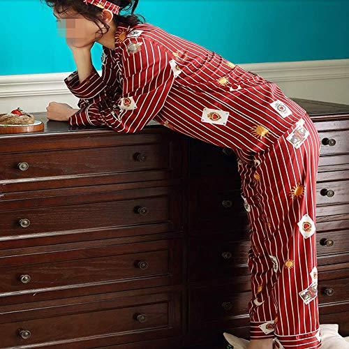 Ghiaccio A Sciolto Essere Simulazione Di Maniche Pigiama Di E Primavera Servizio Di Casa Estivo Può Cardigan L Autunno Fuori Seta Strisce Indossato Signore Vestito Lunghe 8wIFwOq