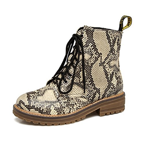 gold US5.5   EU36   UK3.5   CN35 gold US5.5   EU36   UK3.5   CN35 HSXZ Women's shoes PU Winter Fall Comfort Novelty Combat Boots Boots Null Flat Round Toe Booties Ankle Boots Animal Print for Wedding Party