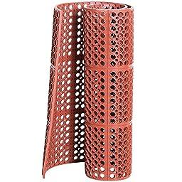 Cactus Mat 3525-R4 VIP TuffDek 3\' x 2\' Red Heavy-Duty Grease-Resistant Rubber Anti-Fatigue Floor Mat - 7/8\