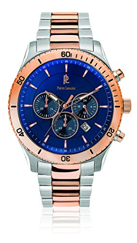 Pierre Lannier Weekend Chronograph Rose Gold & Silver Men's Watch