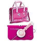 Ultimateaddons® Kids Pink Handbag with Pink Headphones for vTech InnoTab Max