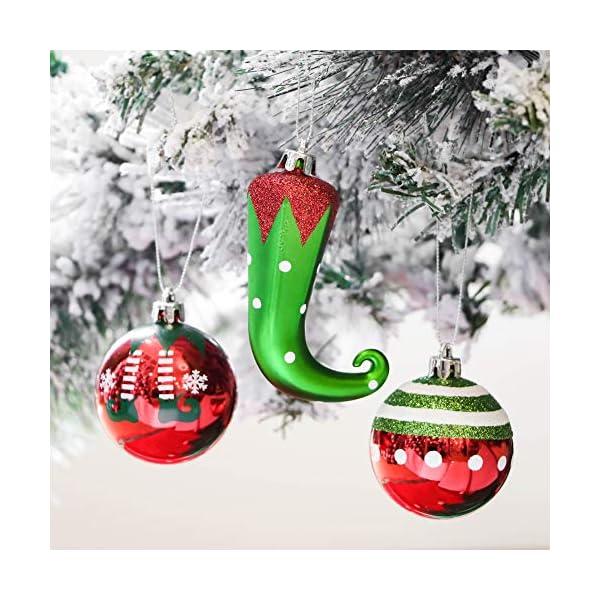 Victor's Workshop Addobbi Natalizi 70 Pezzi di Addobbi Natalizi per Albero, 3-8 cm Delizioso Elfo Infrangibile Ornamenti di Palla di Natale Decorazione per la Decorazione Dell'Albero di Natale 7 spesavip