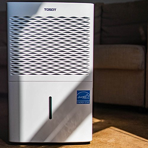 TOSOT 4,500 Sq. Ft. 70 Pint Dehumidifier - Energy Star, Quiet, Portable with Wheels, and Continuous Gravity Drain - Efficiently Removes Moisture for Home, Basement, Bedroom or Bathroom