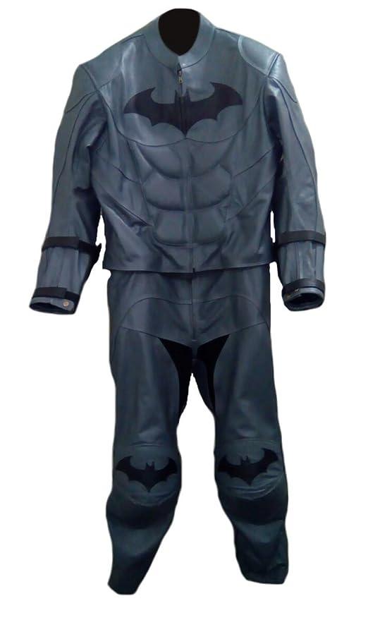 Classyak Traje de Disfraz de Batman Moto de Piel para Hombre ...