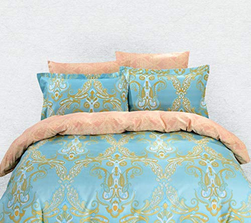 MagicBedding PolyesterSoft New Luxury Bedroom Linen Collection Duvet Cover Sheets Set, Bright Athens Queen Size Bedding Comforter Great Perfect Full Twin Wedding