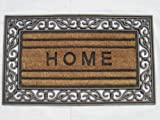 "BOOT SCRAPER WELCOME HOME DOOR MAT RUBBER BORDER SIZE 18"" X 30"" X.5"""
